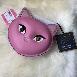 Kate Spade x Cats Crossbody bag Pink New with Tags
